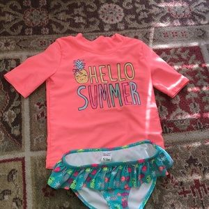 Girls two piece bathing suit 6/6x Carter's